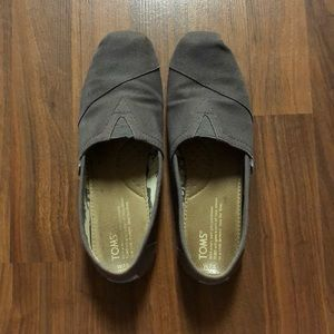TOMS gray classic slip-on shoes